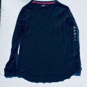 Calvin Klein Athletic Black V-Neck Long Sleeve L
